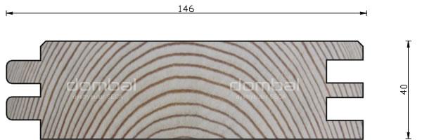 Profil P 40x146