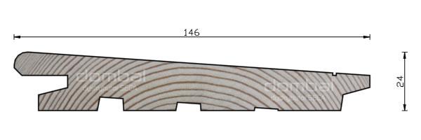 Profil Diagonal 24x146