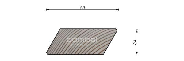 Profil Romb 24x68