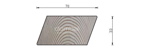 Profil Romb 33x70