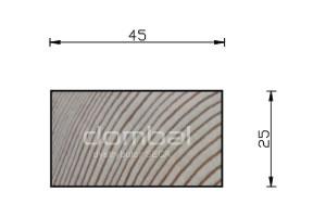 Kantówki i łaty drewniane 25x45cm SECA