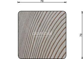 Kantówka drewniana profil A 4R4 70x70cm SECA