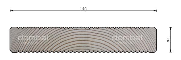 Profil Taras 24x140