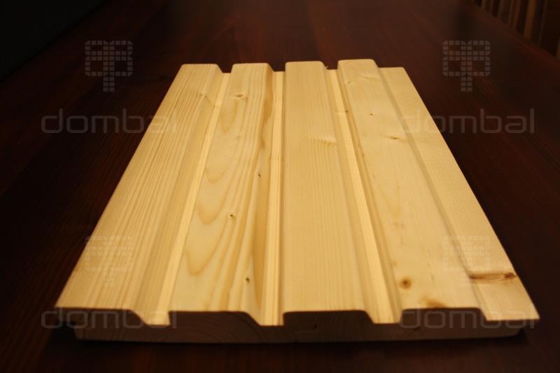 Inteligentny Profil ROMB duo - Deska elewacyjna - SECA drewno TM45