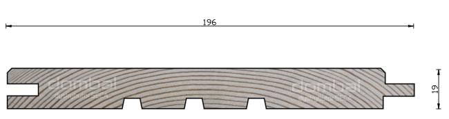 Profil elewacyjny C 196x19