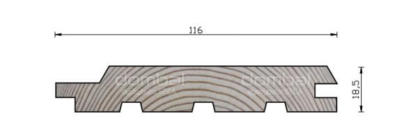 Profil F 19x116