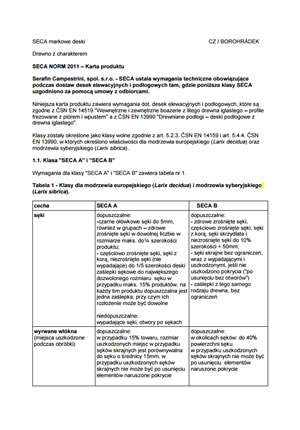 Karta produktu - SECA NORM 2011